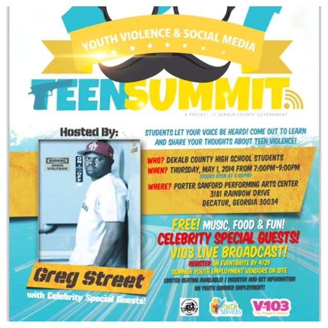 Greg Street Hosts Teen Summit To Combat Atlanta Youth Violence